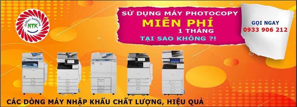 Cho thuê máy photocopy miễn phí